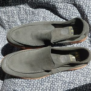 Frye men's suede LOAFER gray 12D